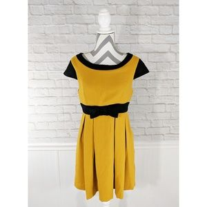ASOS Mustard Yellow Dress with Black Trim